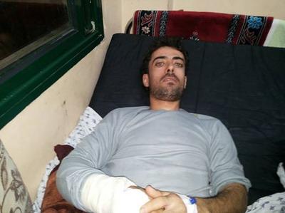 اصابة الشاب علي عبد الحميد الفرا أثناء عمله