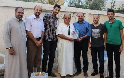 لجنة أنشطة العائلة في زيارة خاصة للأستاذ محمد ارحيم الفرا