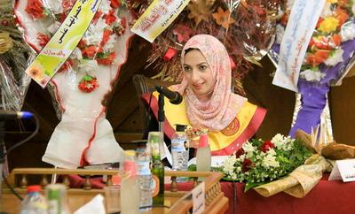 حصول الباحثة سمر مشرف العبادلة على درجة الماجستير