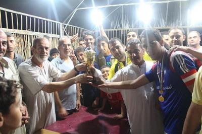 فريق الشهيد عبدالله الفرا يتوج بكآس بطولة الشهيد إبراهيم  يوسف الأسطل