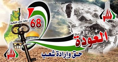 68 عــــاماً من النكبـــــــــــــــــــــــة