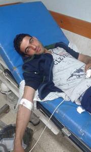 تعرض الشاب / أحمد إسماعيل الفرا لحادث سير
