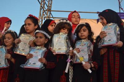 عائلة الفرا تنير حفل تخرج مدرسة محمد بن صالح العثيمين نهاية العام