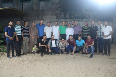 وفد من لجنة الأنشطة في زيارة سعادة السفير د.عبدالرحيم الفرا