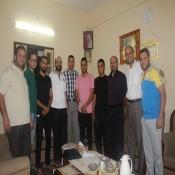 لجنة الأنشطة  تزور المصور أ.حسن عادل الفرا