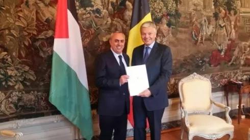 الفرا يقدم أوراق اعتماده سفيرا غير مقيم لدى بلجيكا