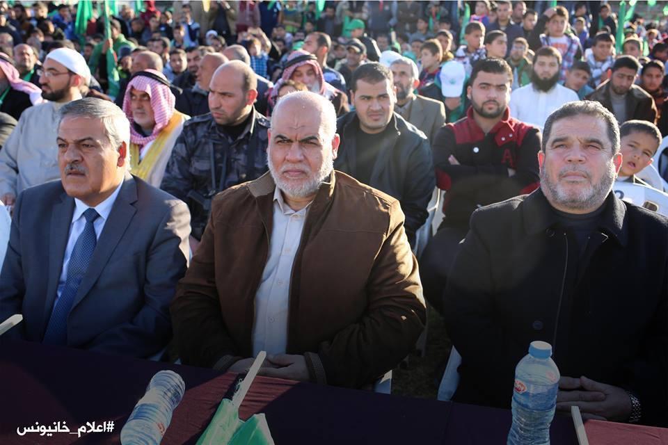 بمشاركة الفرا - حماس تقيم مهرجانا بخان يونس إحتفالاً بذكرى الإنطلاقة 29