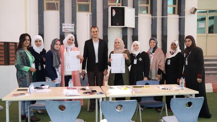 أ. نبيل كمال الفرا ينفذ ورشة عمل لمدرسي الإمارات
