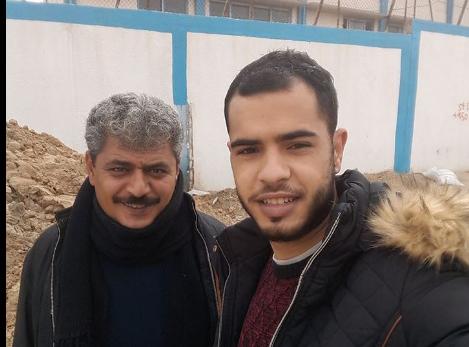 جمعة و رائد الفرا إلى غزة  سيرا على الأقدام تحت شعار لا للحصار