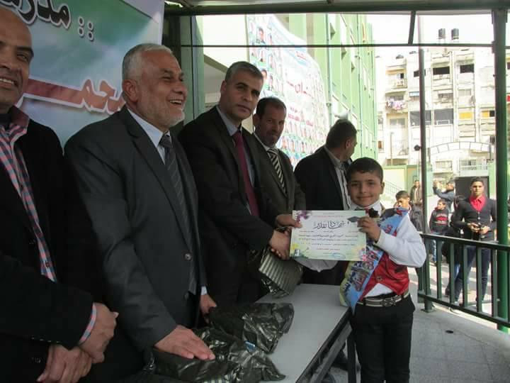 مدرسة الشهيد محمود المبحوح تحتفي بتكريم أوائل الطلبة