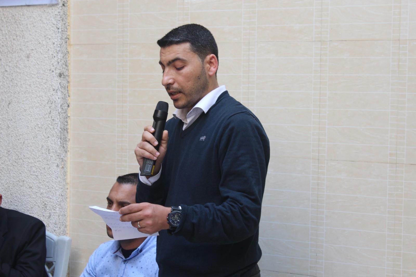 وفد من لجنة أنشطة العائلة في زيآرة للأستاذ/كرم الفرا