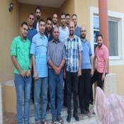 وفد من لجنة أنشطة العائلة في زيآرة أ.أيمن خالد الفرا