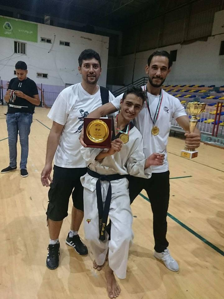 تهنئة الى اللاعب : محمد ايمن فضل الفرا بفوزه بالمركز الاول في بطولة غزة للكروجي