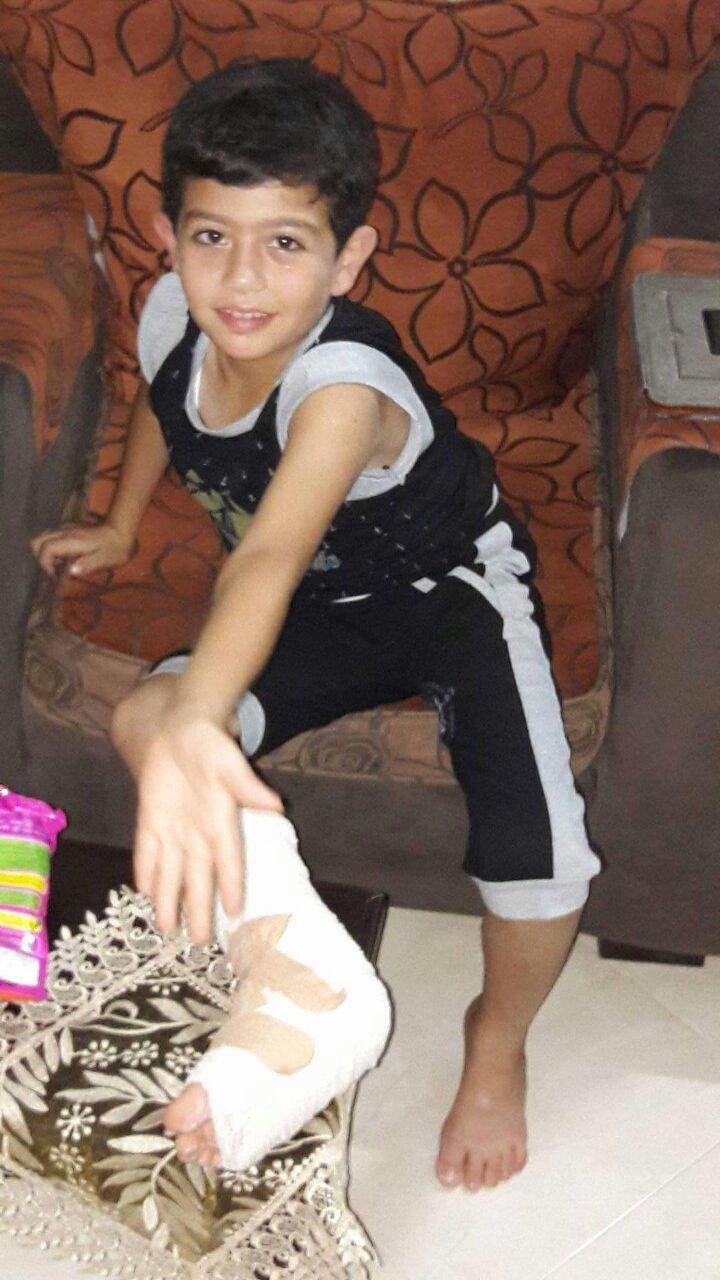 تهنئة بالسلامة للطفل : عبدالعزيز محمد ماجد الفرا