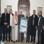 وفد من حركة المقاومة الإسلامية حماس يزور ديوان عائلة الفرا