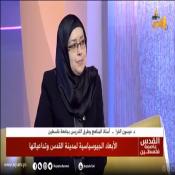 لقاء تلفزيوني مع د.ميسون الفرا حول الأبعاد الجيوسياسية لمدينة القدس وتداعياتها