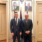 سفير فلسطين لدى الاتحاد الأوروبي ولكسمبورغ يلتقي سفير مالطا