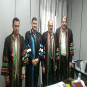 مناقشة رسالة الماجستير للمهندس/ عبد الله مصطفى الفرا