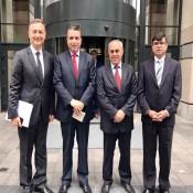 السفير الفرا يلتقي اعضاء اللجنة التنفيذية لمنظمة التعاون الاسلامي في بلجيكا