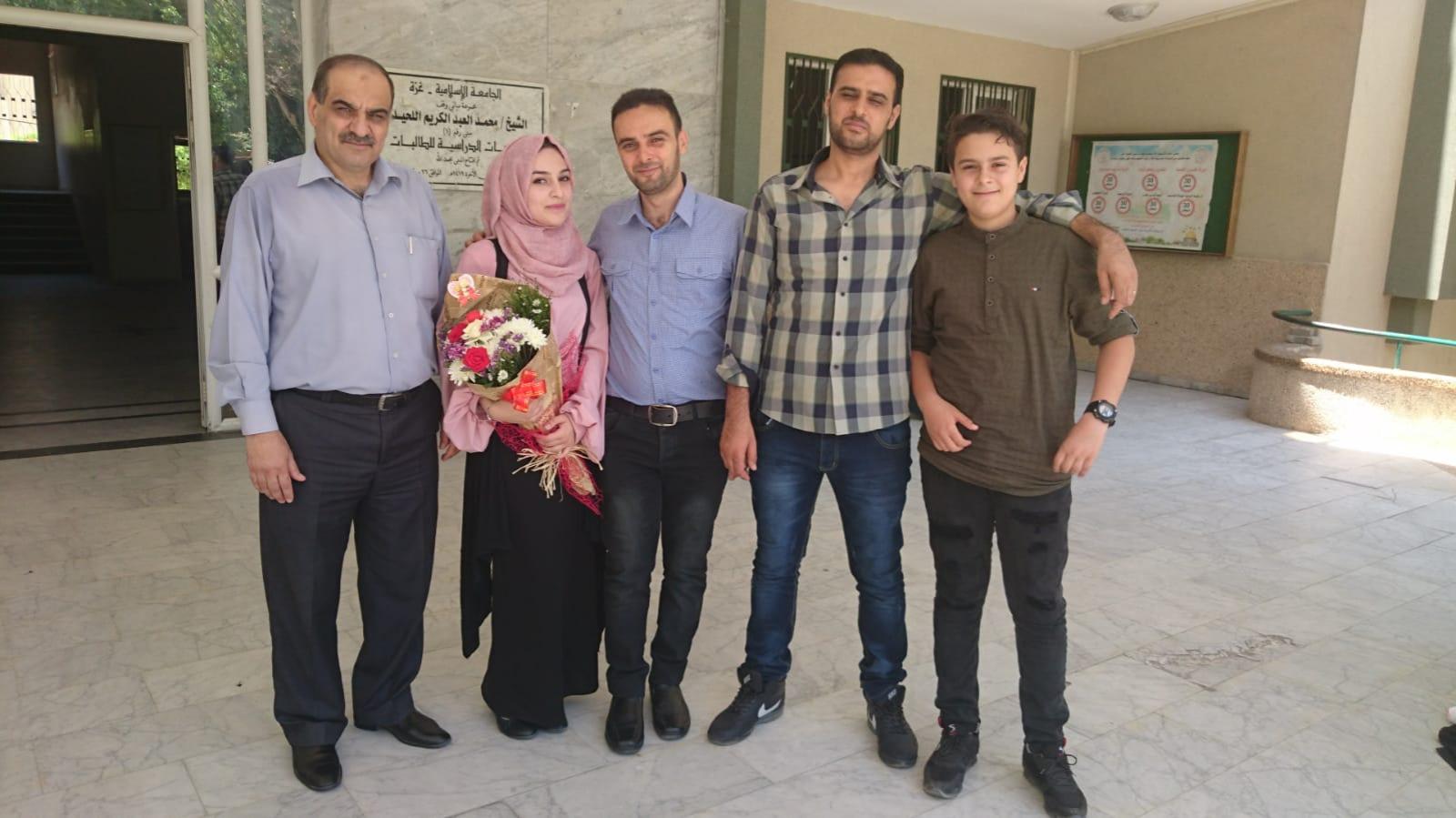 مناقشة مشروع التخرج للدكتورة : لميس محمود عبدالسلام الفرا - بكالوريوس طب مخبري