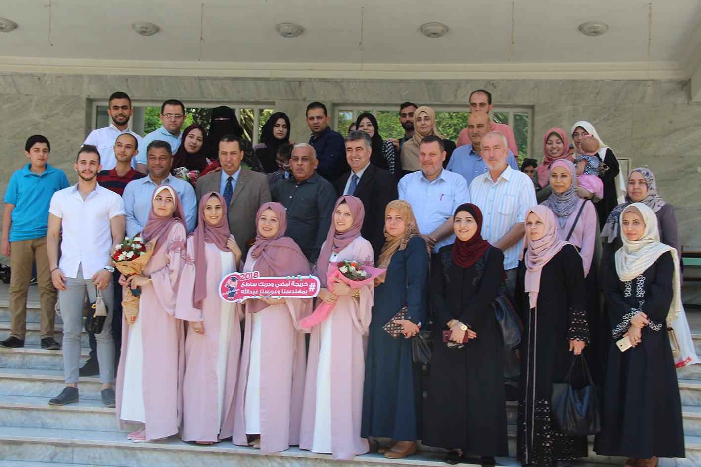 مناقشة مشروع التخرج للمهندسة : نورهان غسان عبد الرحمن الفرا