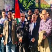بمشاركة السفير الفرا تجمع ابناء الجالية الفلسطينية في بلجيكا دعماً للرئيس عباس