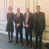 السفير الفرا يلتقي وفداً من جامعة جنت البلجيكية