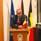 """تحت رعاية السفر الفرا عقد ندوة بعنوان """"فلسطين في عصر العدالة الدولية"""" ببلجيكا"""