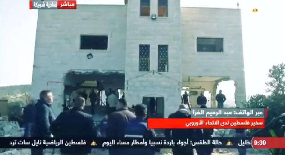 السفير الفرا يتحدث لتلفزيون فلسطين حول الاحداث الجارية حالياً في فلسطين