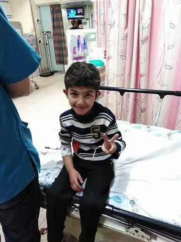 الطفل : أحمد عصام صبري الفرا يغادر أرض الوطن للعلاج