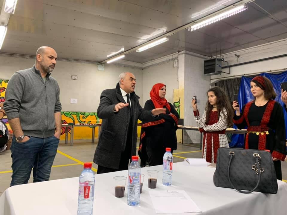 السفير الفرا يفتتح معرض التراث الفلسطيني في مدينة جنت البلجيكية