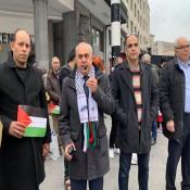 السفير الفرا يشارك في احياء يوم الاسير الفلسطيني ببروكسل