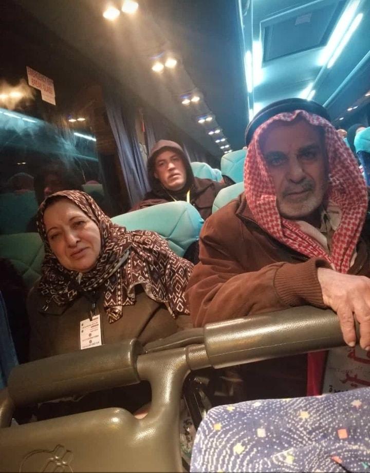 أ. رشدي طاهر الفرا و زوجته يغادران ارض الوطن