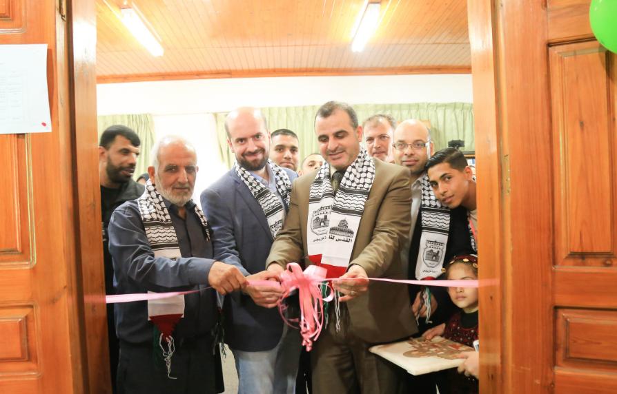 إفتتاح مكتبة خاصة بالطفل في مدينة خان يونس