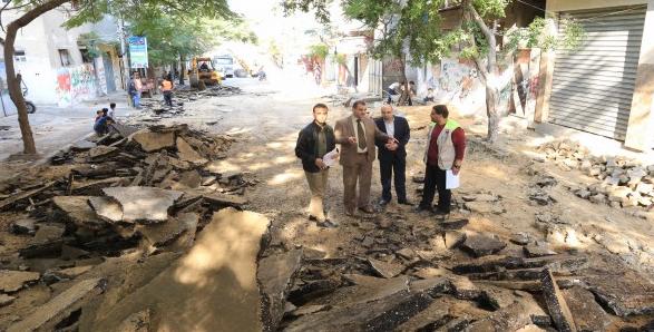 بلدية خان يونس تشرع بإعادة تأهيل شارع اليرموك