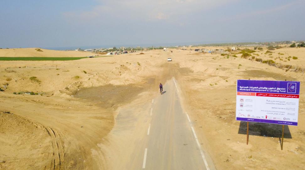 """بلدية خان يونس تشرع بتطوير شارع عمر المختار """"رقم 5"""""""