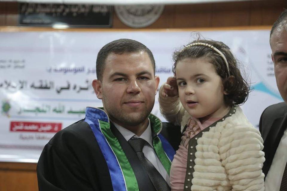 الباحث : أ. حسان النجار يحصل على درجة الماجستير