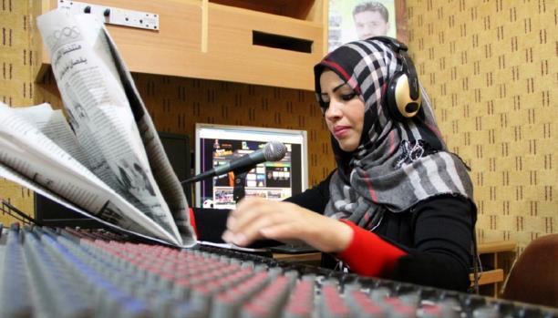 تغريد العمور أول سيدة في مجلس إدارة نادي رياضي بغزة