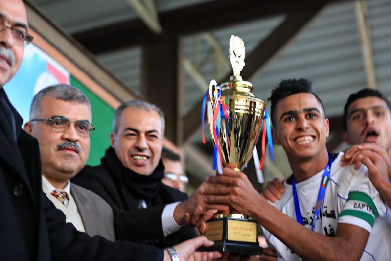 جامعة الأزهر يتوج بلقب كأس الوفاء للأسرى بفوزه على الكلية الجامعية