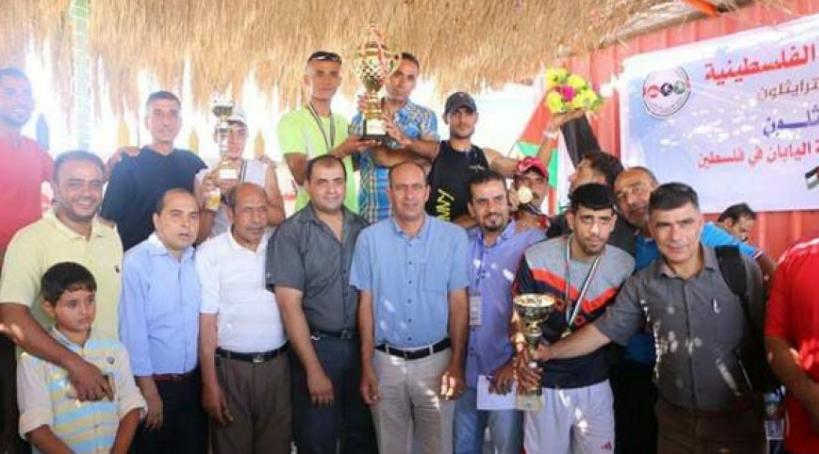 يوسف أبو طيور يفوز بكأس بطولة فلسطين للترايثلون