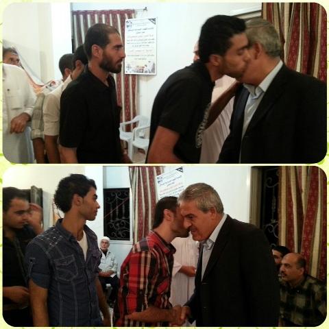 زيارة الدكتور أسامة بمناسبة عيد الفطر السعيد
