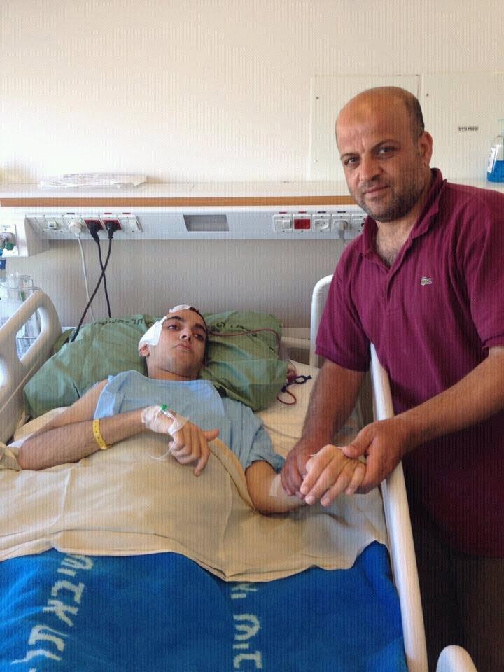 خروج الشاب/ هشام عامر عبد الله الفرا من المستشفى