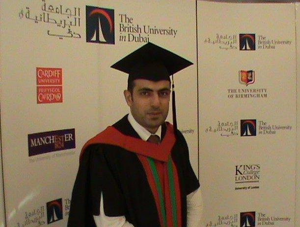 حصل د.م.حسن جميل حسن الفرا على درجة الدكتوراة في العمارة ,
