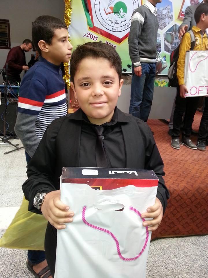 الطفل  : مراد سمير صالح  الفرا الاول في مسابقة تاج المعرفة