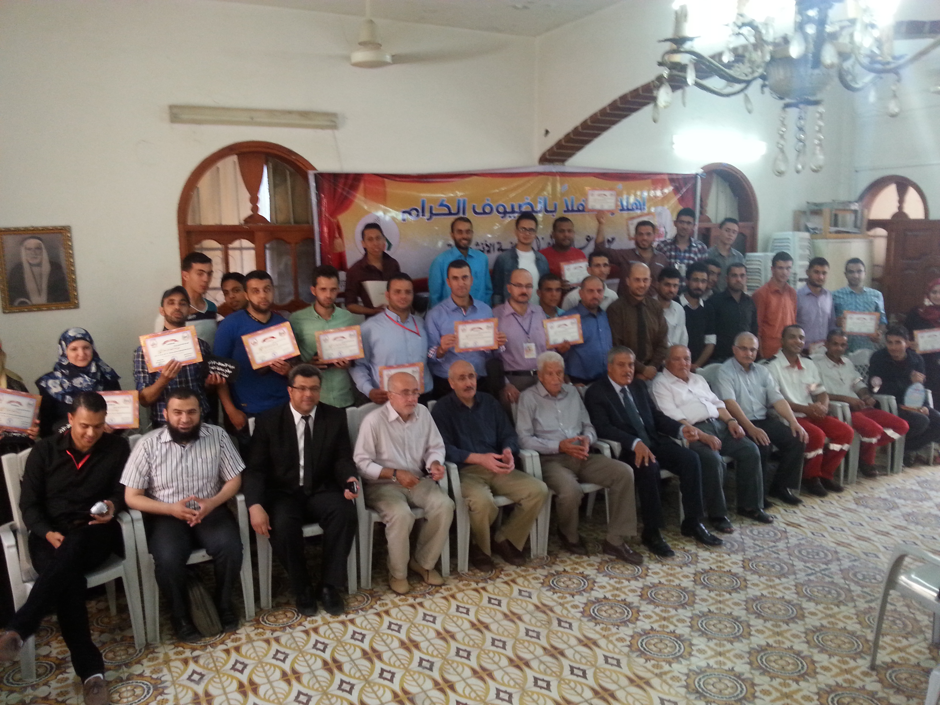 حفل تخريج المشاركين بدورتي الاسعاف الأولي