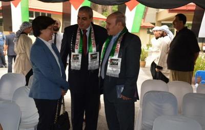 ماليزيا- سفارة فلسطين تحتفل برفع العلم الفلسطيني أمام مقر الأمم المتحدة