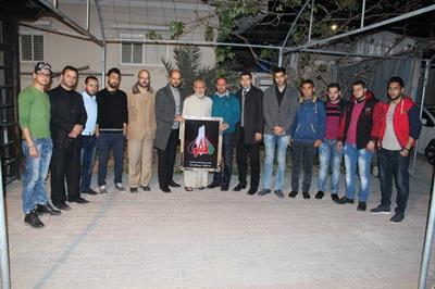 وفد من لجنة أنشطة العائلة في زيآرة للمستشار علي كامل الفرا