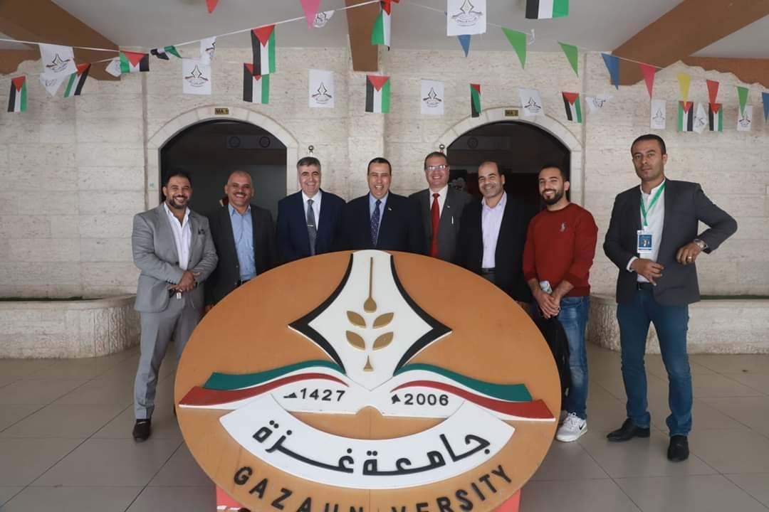 بمشاركة د. مدحت الفرا وفد من مركز شباب الزمالك يزور جامعة غزة