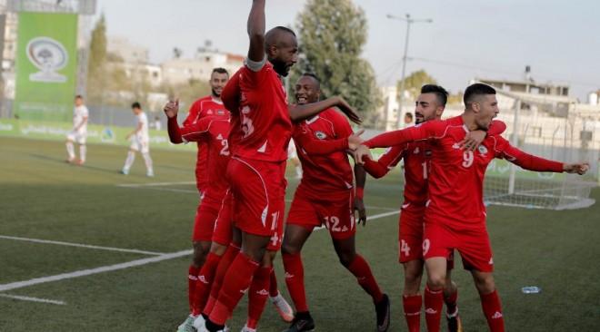 منتخب فلسطين يتصدر مجموعته بفوزه على ضيفه جزر المالديف بثمانية